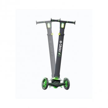 Yvolution Glider XL Deluxe черно-зеленый 2019